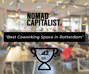 42workspace ranked as best coworking space in Rotterdam